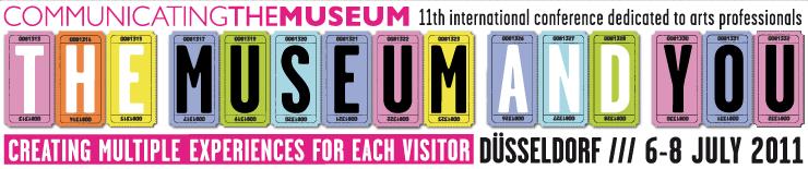 """Bannière de la conférence internationale """"Communicating the museum"""""""