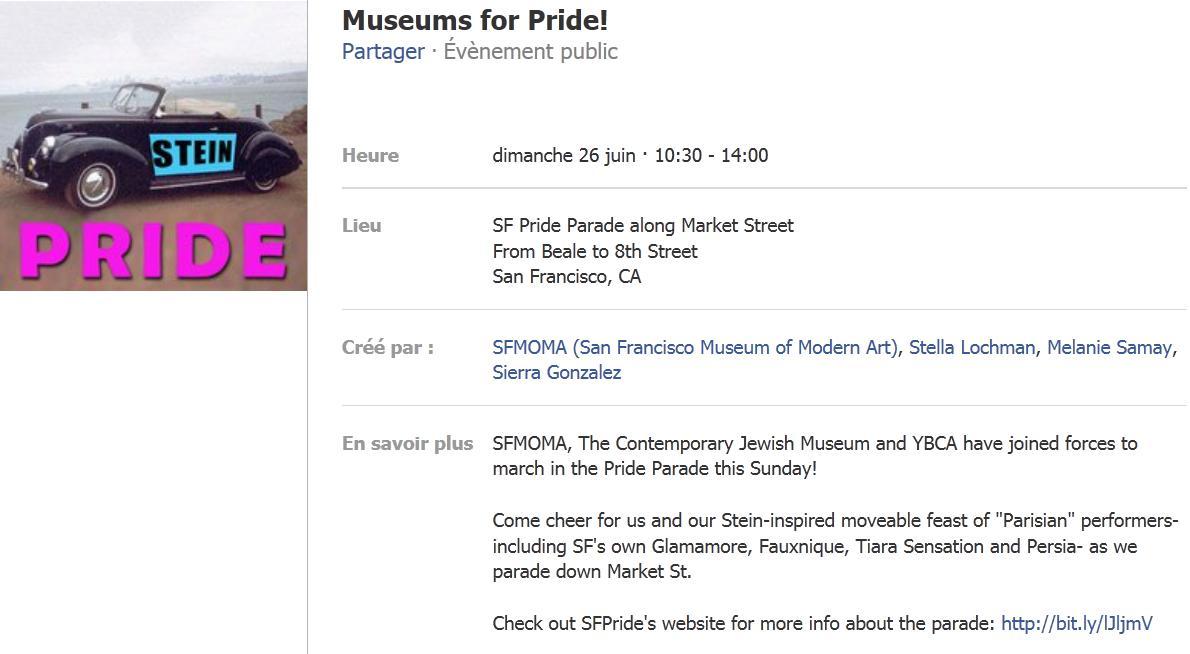Capture d'écran de l'événement Facebook