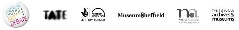 Logos des 4 musées britanniques associés