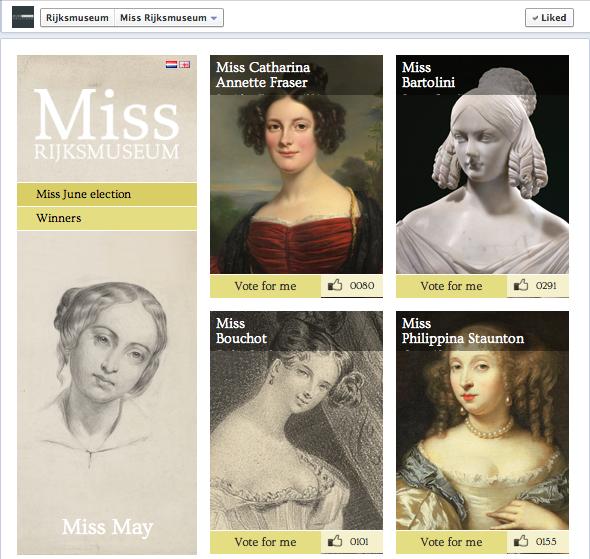 Les élections de la Miss Rijksmuseum